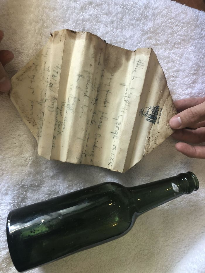I Found This Message In A Bottle On Floreana Island In The Galapagos