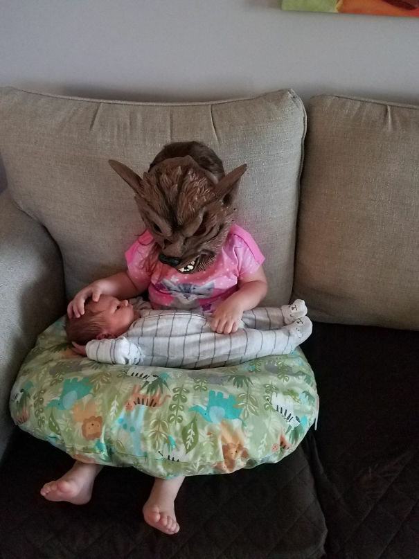 This Is How My 2.5-Year-Old Niece Insists On Holding Her New Baby Brother