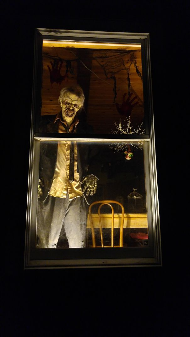 """The View From The Street By My Kitchen Window. My Daughter Says That The Kids In The Neighborhood Call Our Place """"The Murder House"""""""