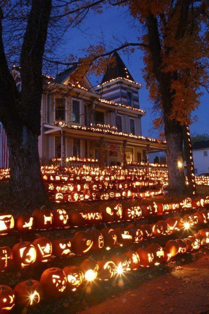 Das Kürbis Haus in Kenova, West Virginia