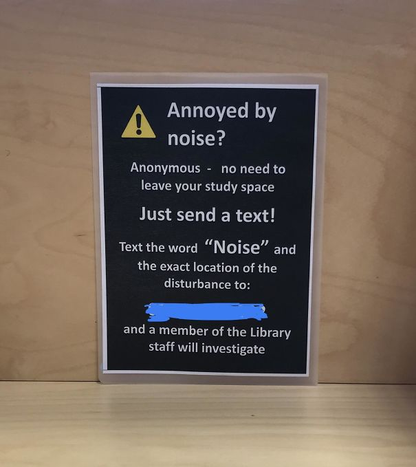 This Sign At My University With The Number For The Library Police