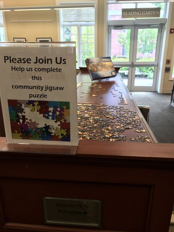 Local Library Has A Community Jigsaw Puzzle