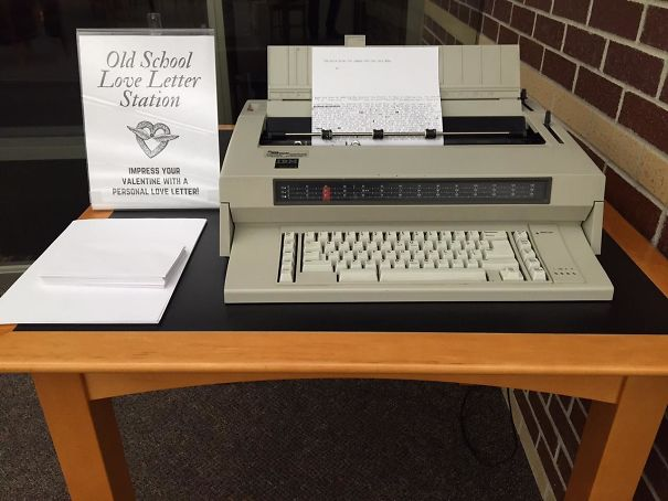Old School Love Letter Station At Library