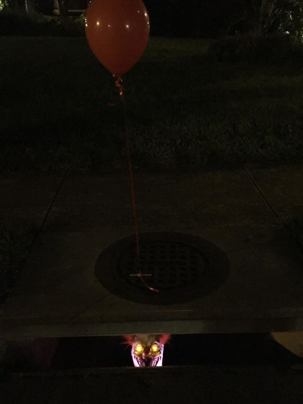 My Sister Thought It Would Be Funny To Put This In The Sewer In Front Of Her House