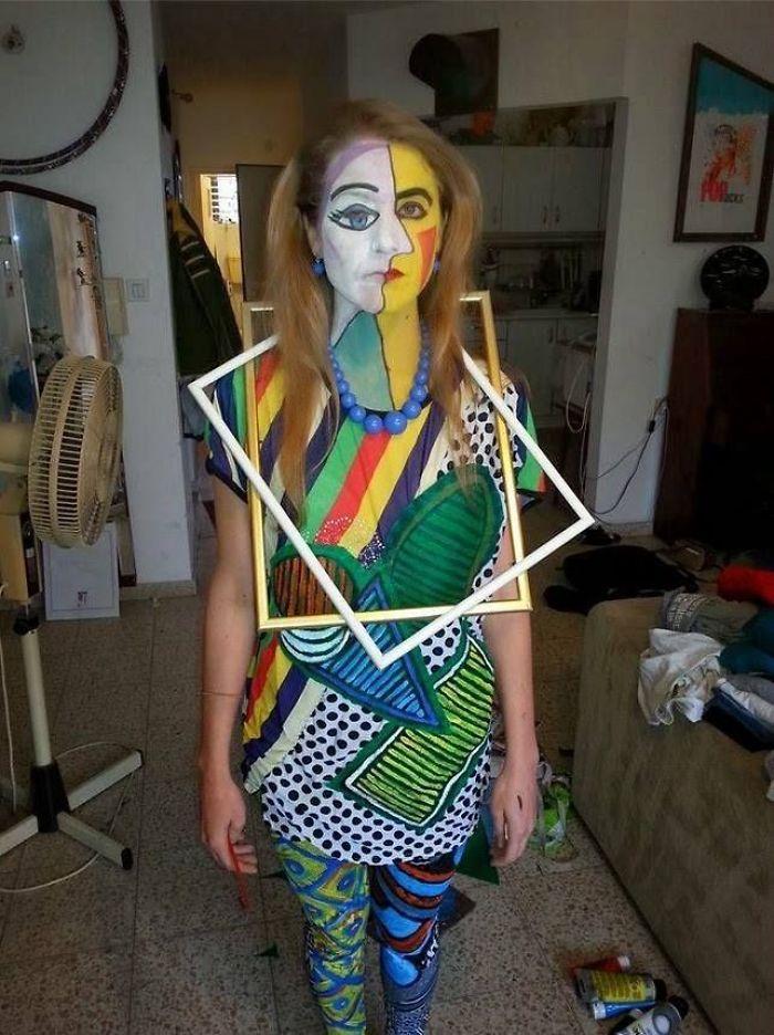 Disfraz de cuadro de Picasso