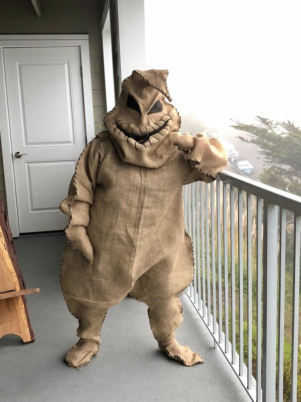 My Sister-In-Law Made The Best Costume I Have Ever Seen. Mr. Boogey Man. Ironically, She Is A Therapist And Helps Folks With There Personal Boogey Mans