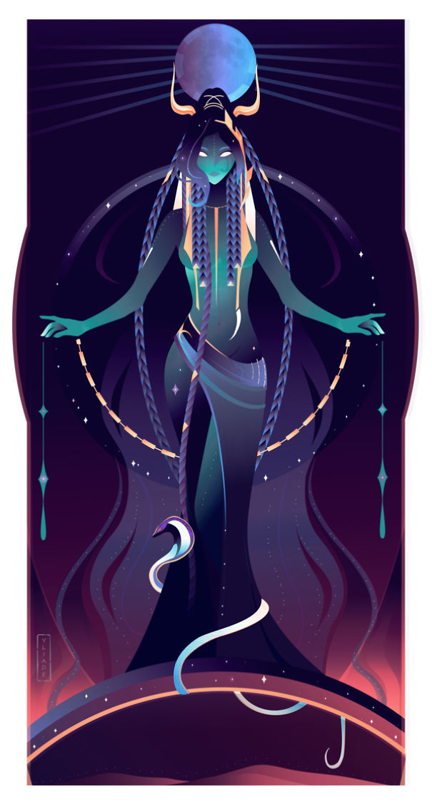 Nut - Goddess Of The Night-Time Sky And All Heavenly Bodies