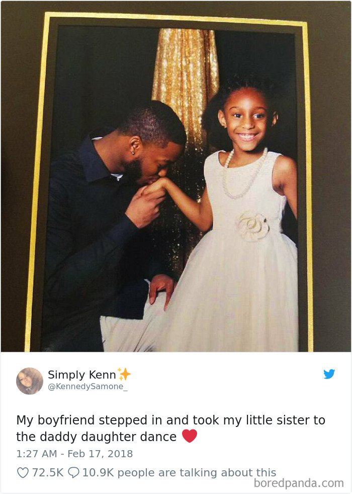 Boyfriend Takes Her Little Sister To Daddy Daughter Dance