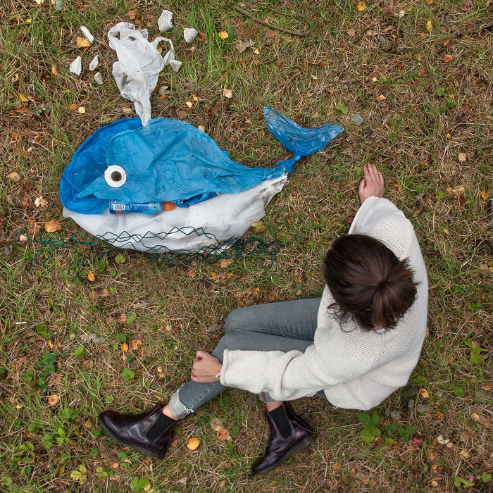 I Create Animal Sculptures From Litter That I Find