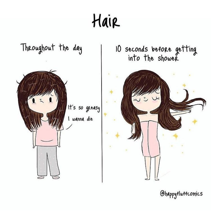 Artist Creates Illustrations Of The Daily Problems Of A Modern Girl And You Will Surely Laugh At It