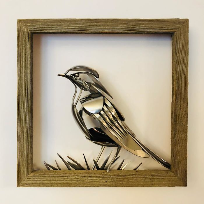 Artist Makes Sculptures With Cutlery And The Result Is Perfect