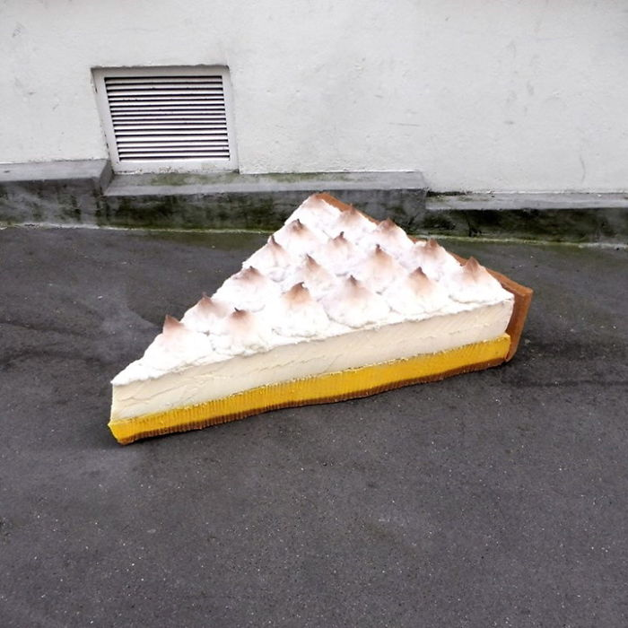 Artist Turns Abandoned Mattresses Into Food Sculptures