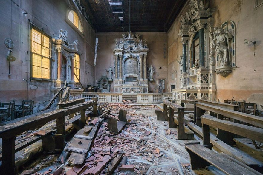 Abandoned Church In Italy