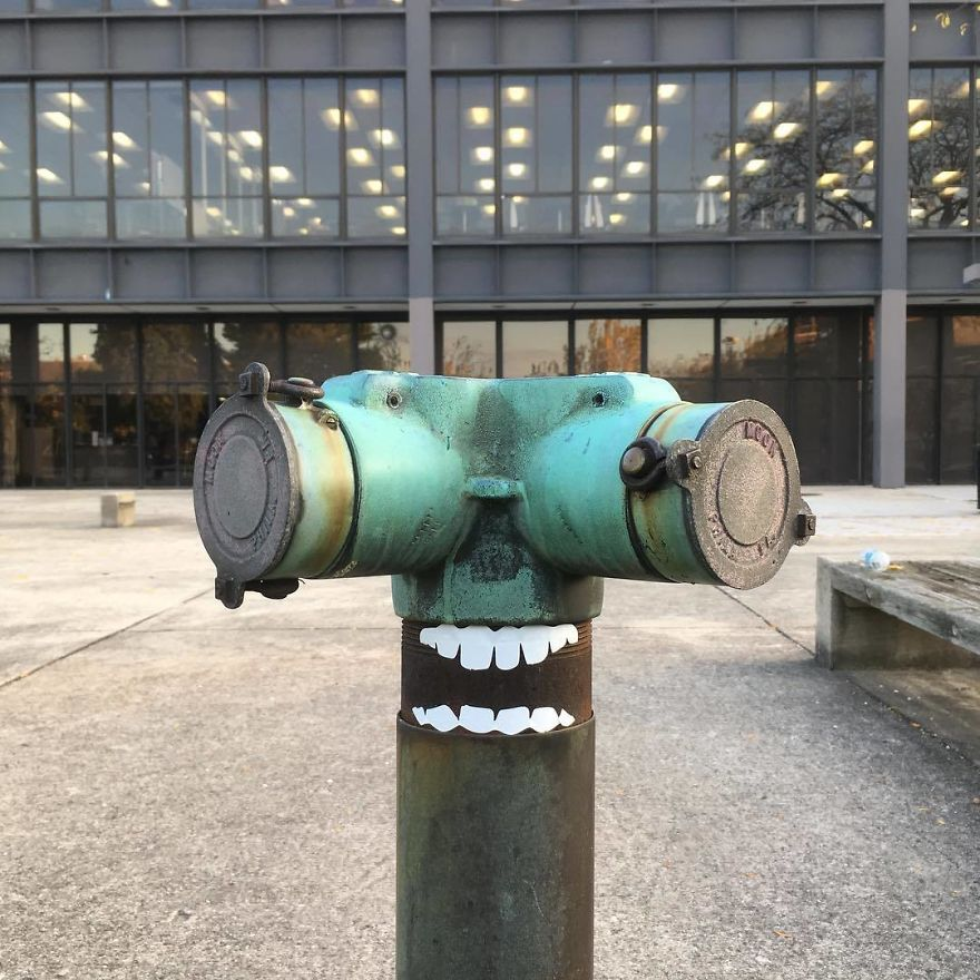 I Transform Public Objects Into Characters With Custom Designed Stickers