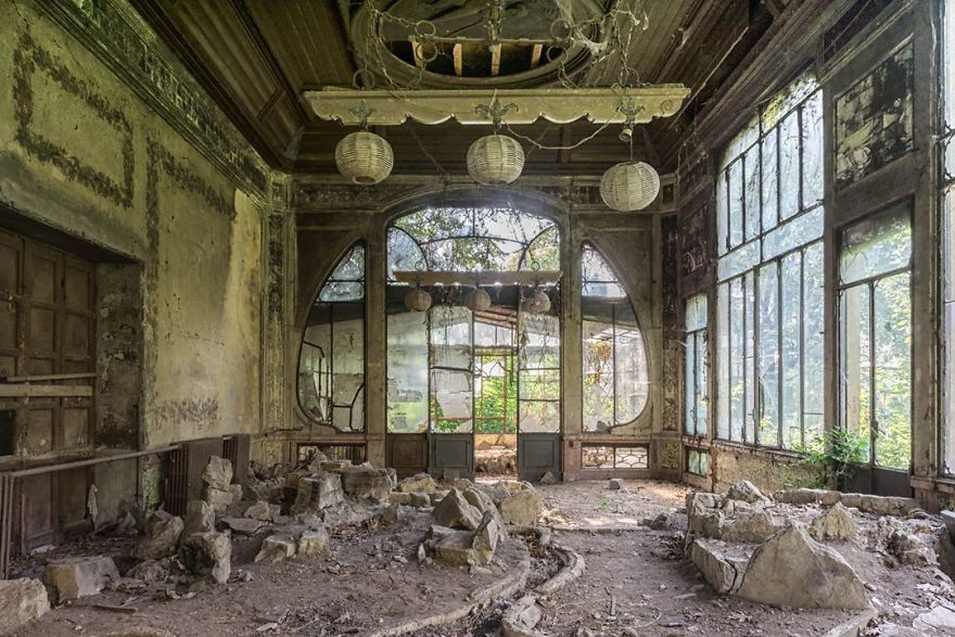 Abandoned Greenhouse In Italy