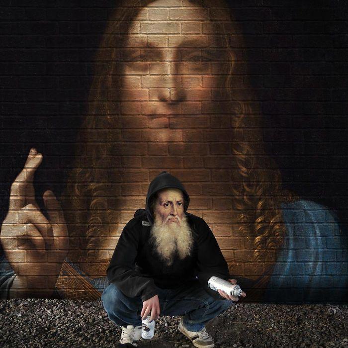 Leonardo Da Vinci – Salvator Mundi Street Art