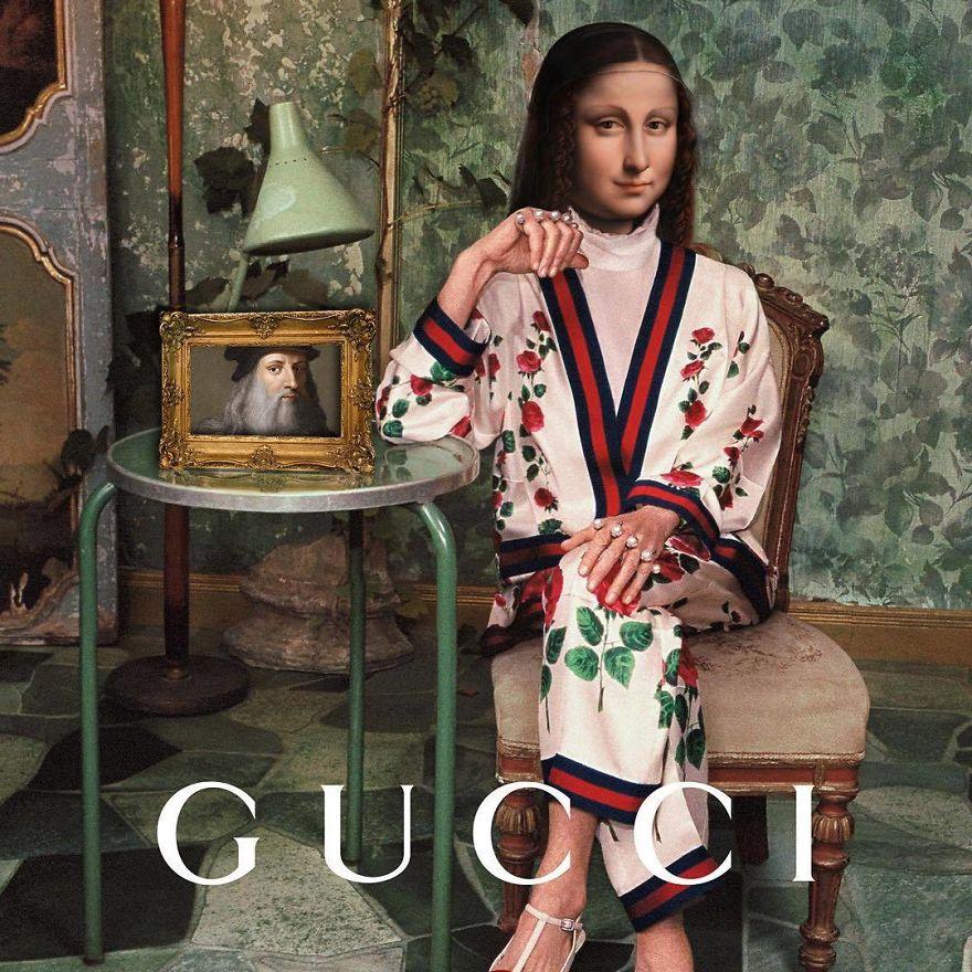 Gucci With Mona Lisa