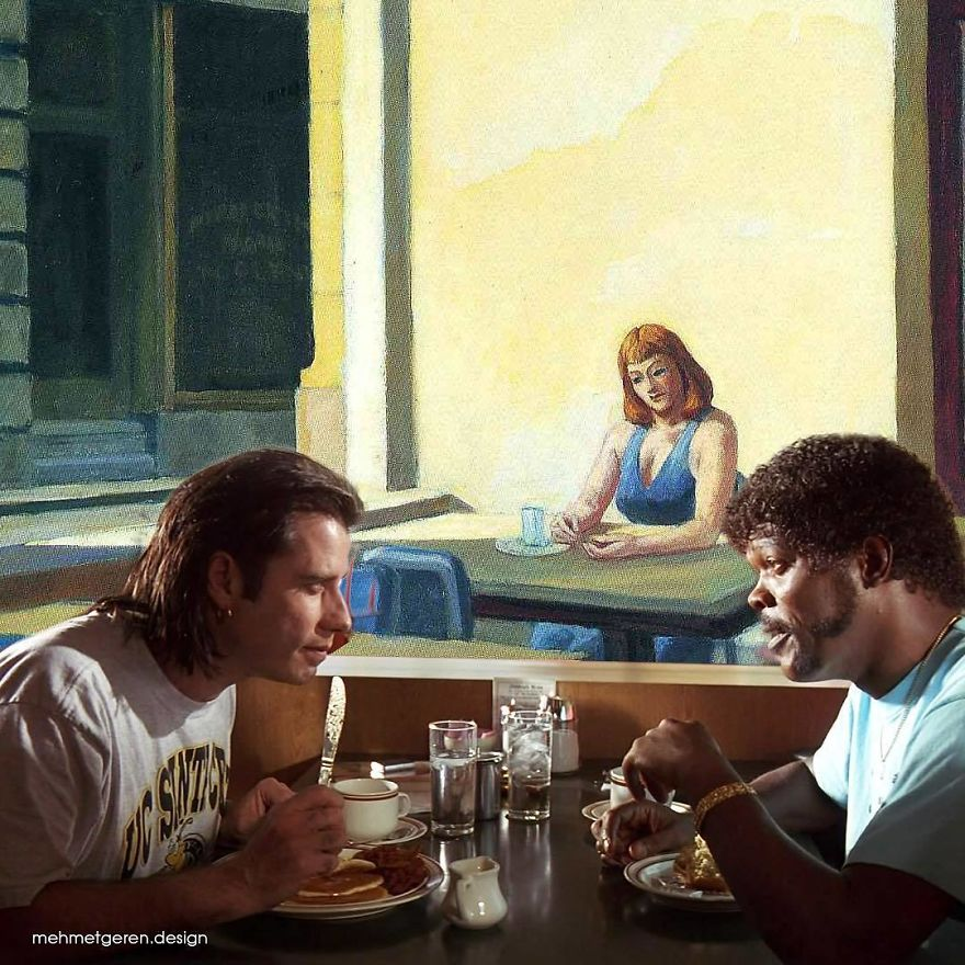 Pulp Fiction With Edward Hopper