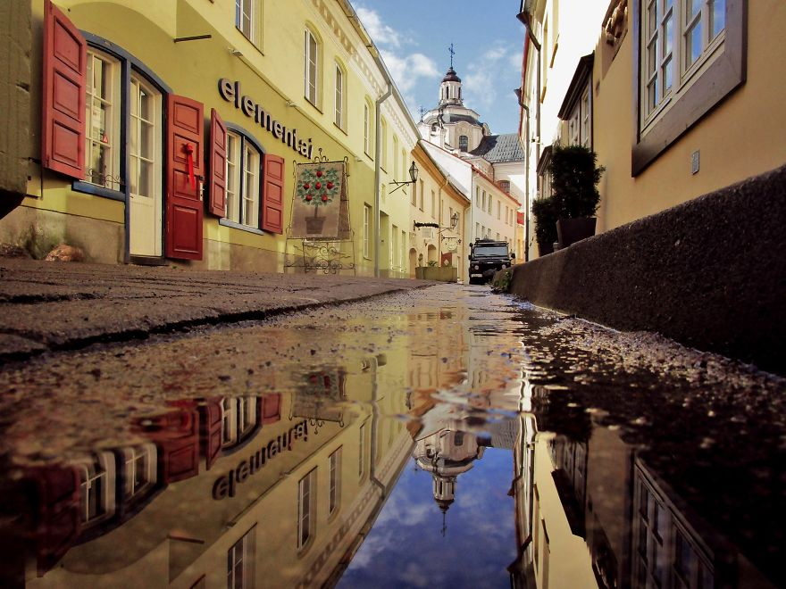 Captured The Beauty Of Rainy Vilnius City