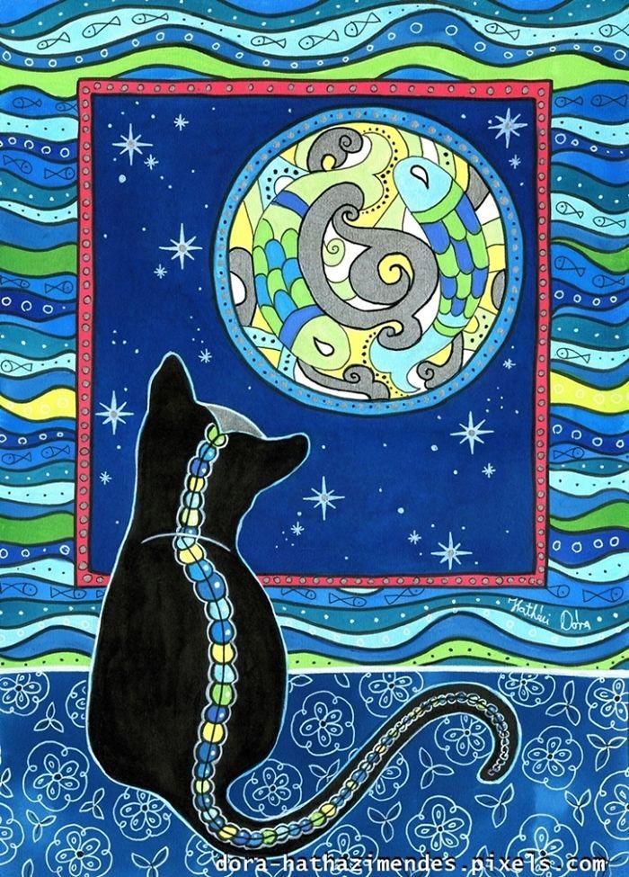 Pisces Cat Zodiac