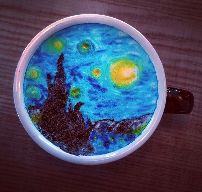 Starry Night Latte