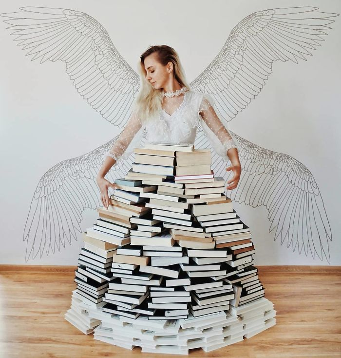 In Love With Books, This Woman Uses Them To Make True Works Of Art