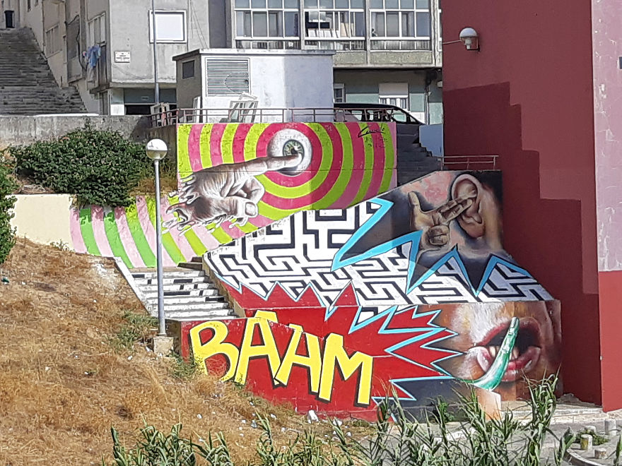 Baam! Boring Access Stairs Now Full Of Color