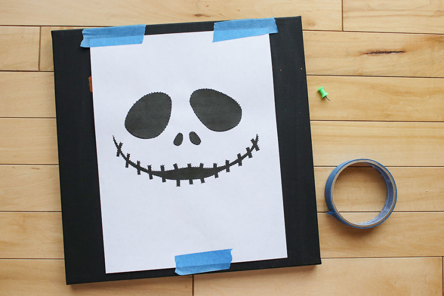 jack skellington backlit canvas art bored panda