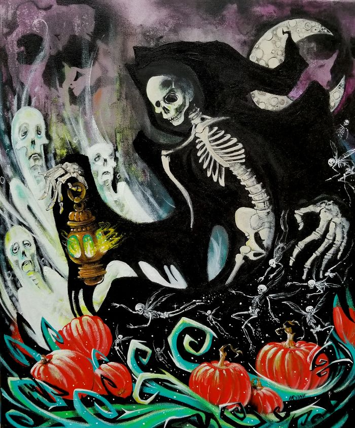 I Love To Create Halloween Art!