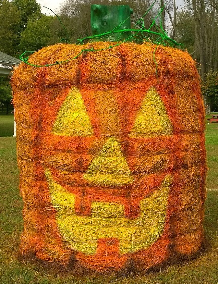 Jack O'lantern With A Stump For The Stem