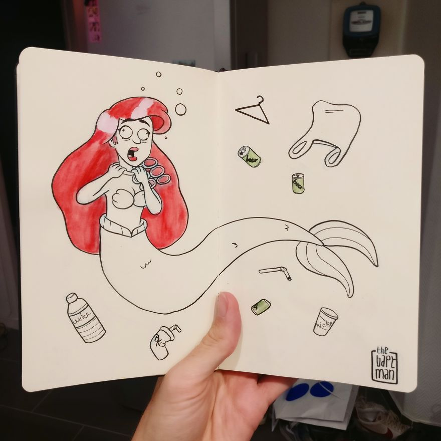 Ariel And Ocean Pollution