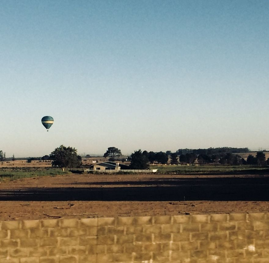 Just A Little Hot Air Balloon Floating By...
