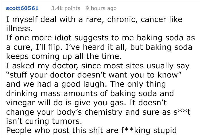 Internet User Waiting For Tumor Surgery Gets Advice From Alternative Medicine Advocate, But Someone Shuts It Down