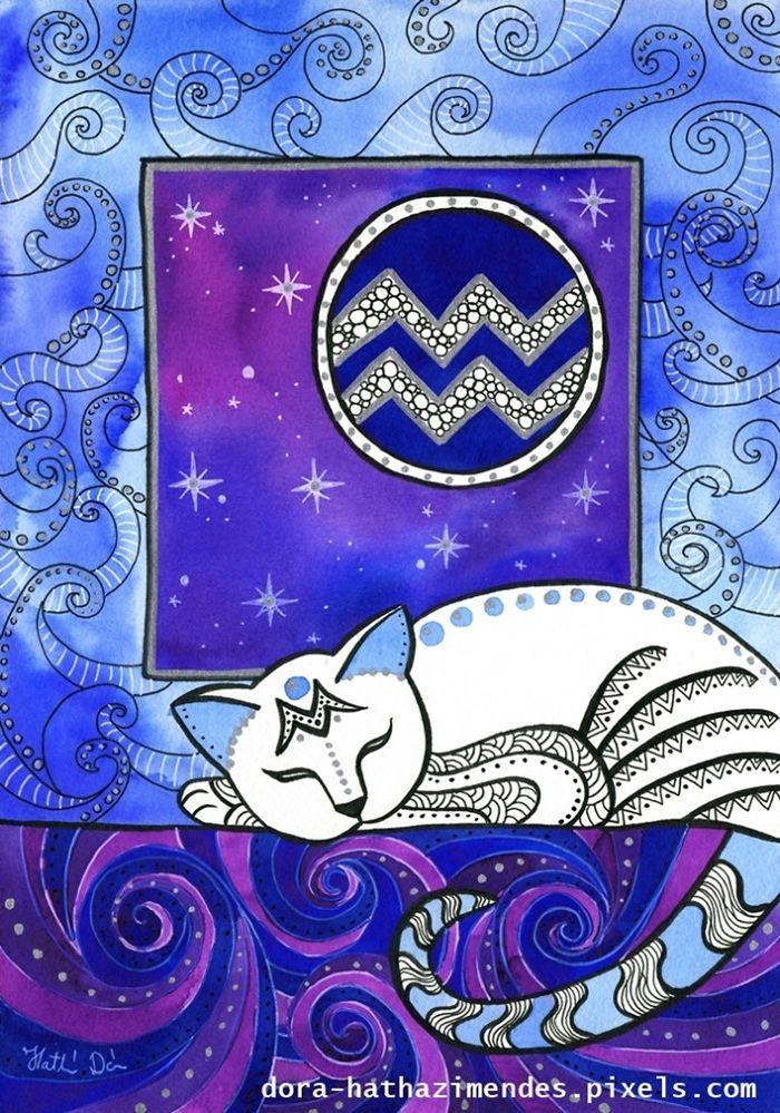 Aquarius Cat Zodiac