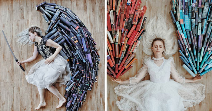 Book-Lover Turns Her Massive Library Into Art, And Her 140k Instagram Followers Approve