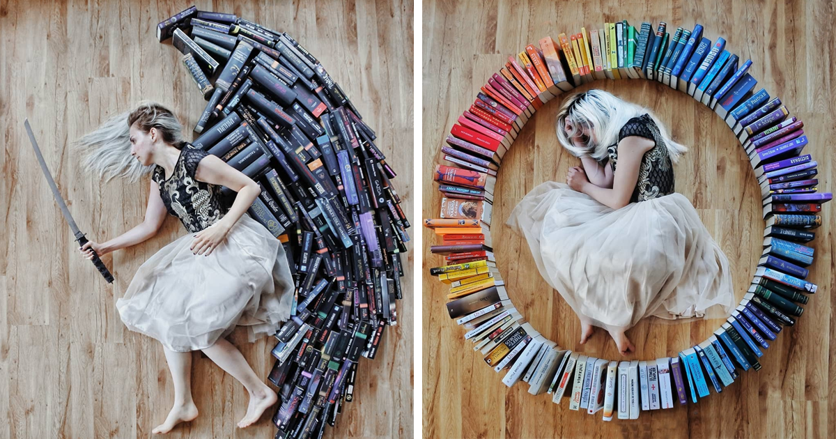Book-Lover Turns Her Massive Library Into Art, And Her 90k Instagram Followers Approve