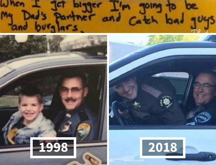 A Son Who Predicted He Would Follow In His Father's Footsteps And Become A Police