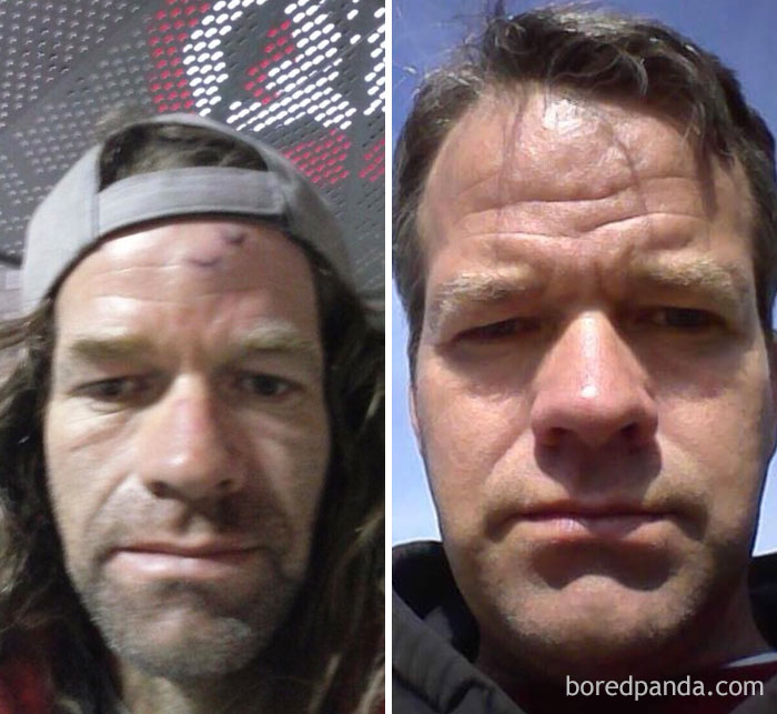Friend Of Mine Got Sober And Went From Looking Like Frank Gallagher To Matt Damon