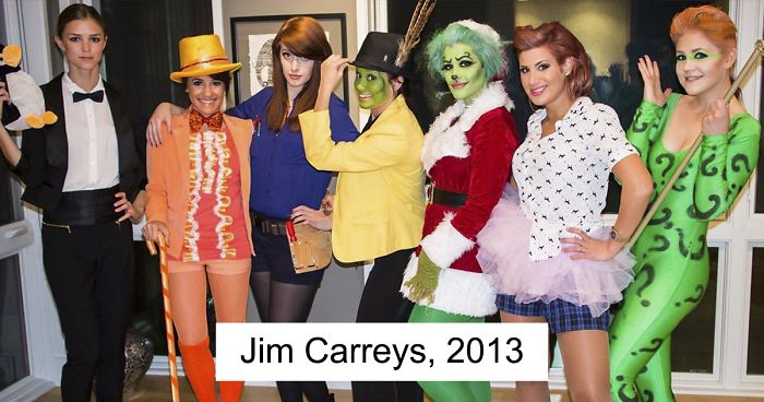 Halloween Group Costumes.Every Year These Friends Dress Up As A Different Version Of