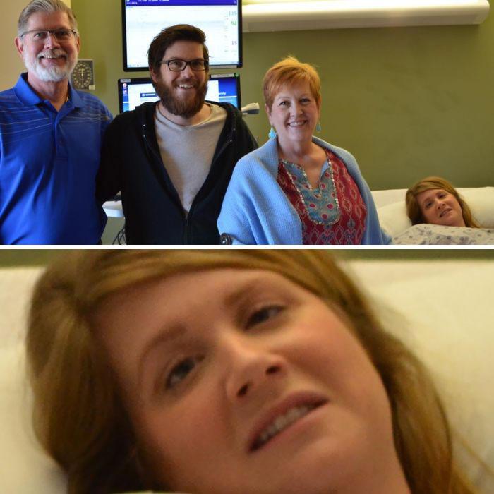 Mi marido y mis suegros querían una foto familiar mientras yo estaba de parto con contracciones