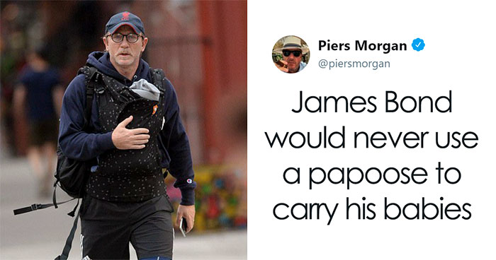 18 Best Responses To Piers Morgan Who Mocked Daniel Craig For Carrying His Baby In A 'Emasculating' Baby Carrier
