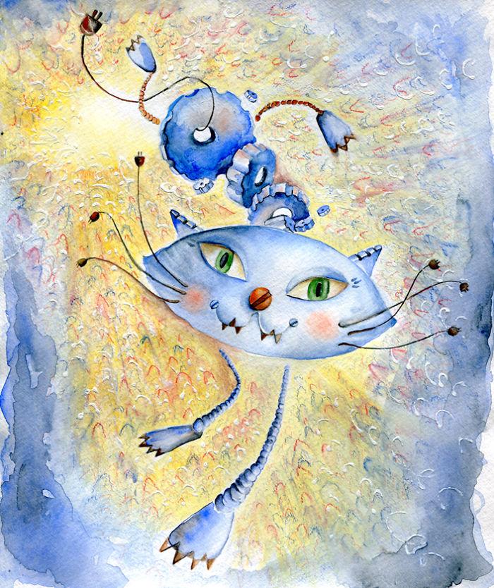 Портрет котенка в разных стилях :-)) искусство
