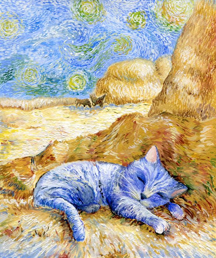 Портрет котенка в разных стилях :-))