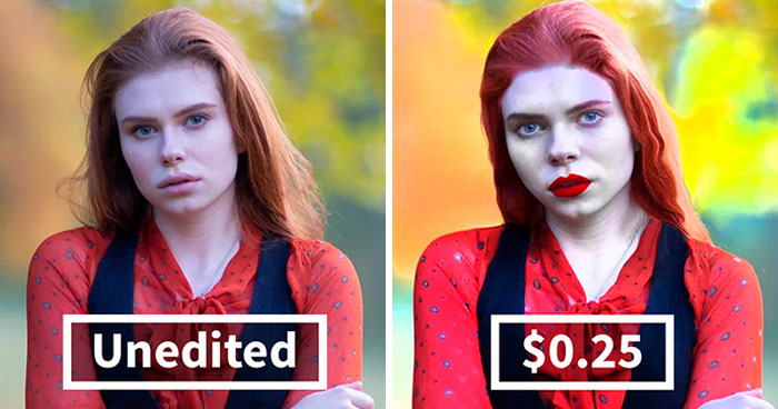 Here's How Different The Results Are After You Hire A Photo Retoucher For $0.25, $5 And $10