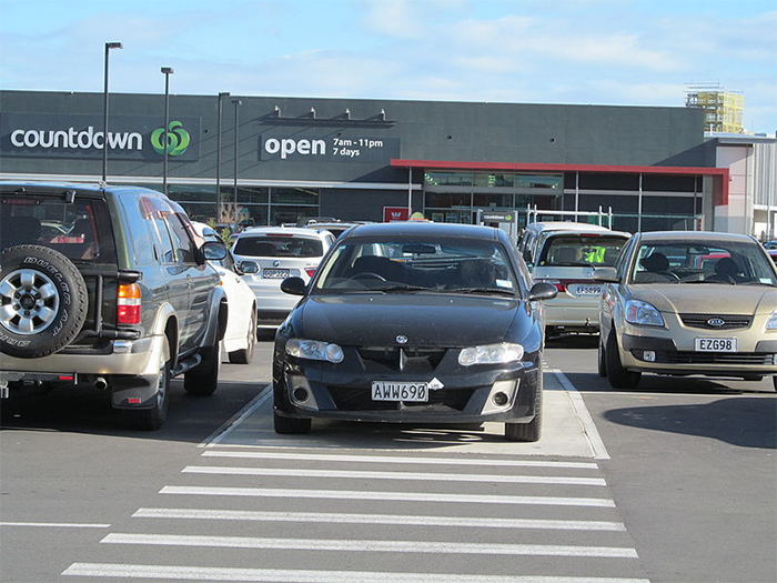 Blocking Pedestrian Crossings With Your Car