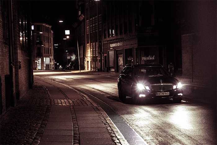 Not Dimming Your Car's Front Lights While Driving Past Someone In The Dark