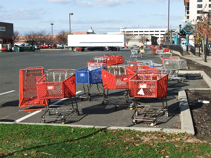 Leaving Carts All Over The Parking Lot