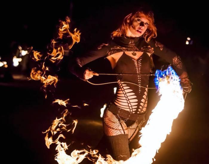 I Create Visual Art With Fire Dance