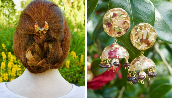 I Make One-Of-A-Kind Vintage Jewelry From Flowers And Gemstones