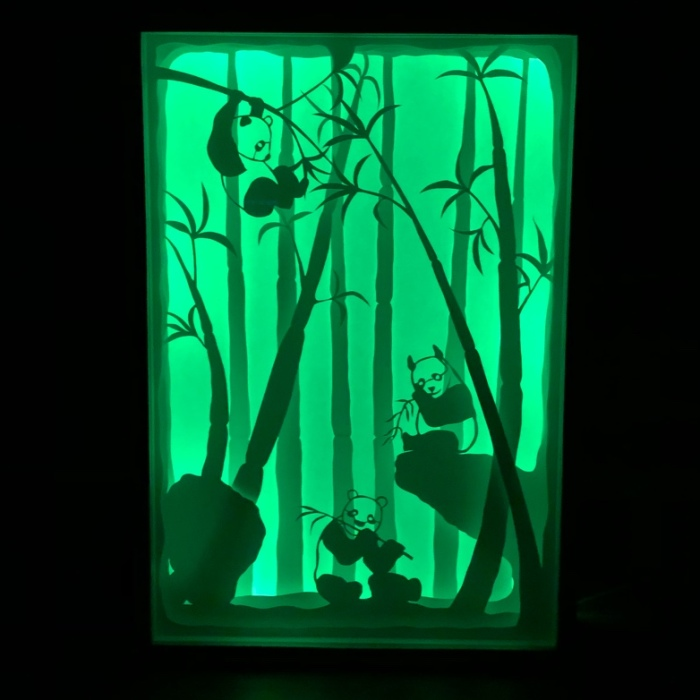 Handmade Papercut Lightboxes